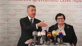 Marii Benešovou uvedl do úřadu ministryně spravedlnosti premiér Andrej Babiš (30. 4. 2019)