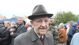 Milouš Jakeš na prvomájové akci KSČM (1.5.2019)