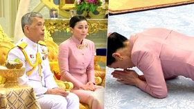 Thajský král se oženil