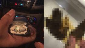 Muž spolkl sluchátka. Přehraboval se ve vlastní stolici