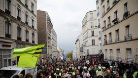Žluté vesty už po 25 protestovaly proti vládě. Poslední sobotní protesty se obešly bez zranění