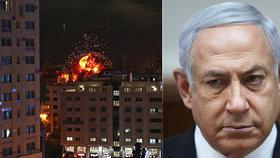 Izraelský premiér Benjamin Netanjahu v neděli nařídil armádě pokračovat v útocích na radiály z palestinského Pásma Gazy. Od soboty odtud bylo na Izrael vypáleno asi 400 raket. (5.5.2019)