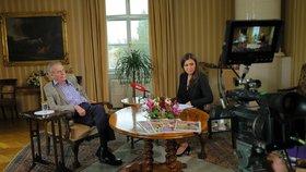 S prezidentem v Lánech. Miloše Zemana v neděli zpovídala Vera Renovica (5.5.2019)