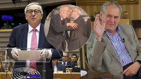 Zeman o tom, jak urazil Junckera a dostal pusu