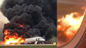 Šokující video z útrob hořícího letadla