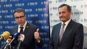 Nový ministr dopravy Vladimír Kremlík (za ANO) a šéf Ředitelství silnic a dálnic (ŘSD) Pavol Kováčik (vpravo)