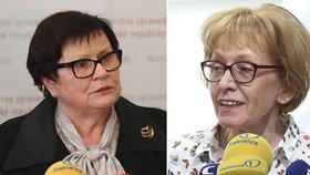 Ministryně Benešová se ujala funkce šéfky legislativní rady vlády, exministryně Válková je novou vládní zmocněnkyní pro lidská práva