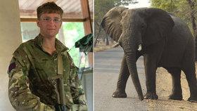Tragická smrt vojáka (†23) v Malawi: Chránil divočinu před pytláky, udupal ho vylekaný slon