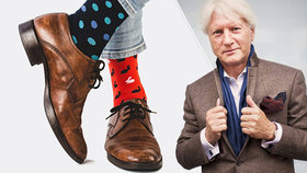 Češi slaví Mezinárodní den lichých ponožek. Ladislav Špaček obecně chválí u mužů ty barevné.