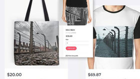 Společnost nabízela na svých stránkách zboží s fotkami Osvětimi.