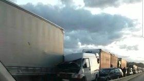Dramatická nehoda na dálnici D1 - 10. května 2019.