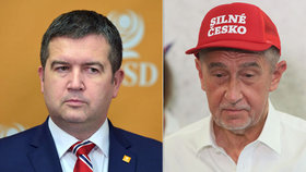 Jan Hamáček (ČSSD) se hned několikrát opřel do koaličního partnera Andreje Babiše (ANO)