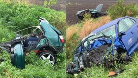 U Přerova nad Labem na Nymbursku se odpoledne srazila dvě osobní auta. Jeden člověk při nehodě zemřel a další dva utrpěli zranění.