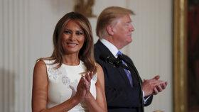 Prezident Donald Trump s manželkou Melanií.