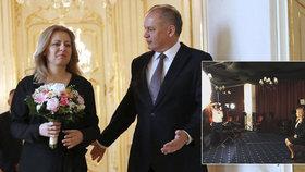Zuzana Čaputová se chystá převzít prezidentský palác. Jeho zákoutí už jí představil odcházející prezident Andrej Kiska. Úřadu se Čaputová ujme 15. června při slavnostní inauguraci.