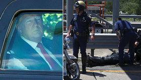Kolona prezidenta Donalda Trumpa měla nehodu, tři strážníci skončili v nemocnici.