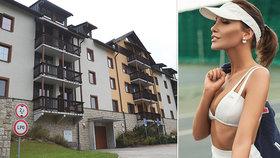 Krásná modelka vypadla z balkonu ve Špindlerově Mlýně.