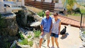 Vysněné bydlení v dovolenkovém ráji se jim doslova bortí před očima. Rodina žaluje kyperskou vládu, že jí povolila stavět na nebezpečném místě