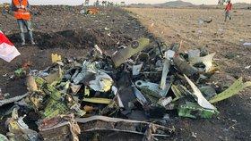 Snímek letecké havárie v Etiopii