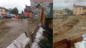 ONLINE: Velká voda ohrožuje i pivovar, prudký déšť bičuje Česko, sledujte radar