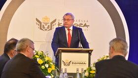 Sněm Hospodářské komory: Vladimír Dlouhý při projevu