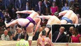 Prezidenta USA Donalda Trumpa pozvali i s manželkou v Japonsku na zápas v sumo
