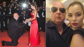 Český milionář, který v Cannes teatrálně žádal o ruku: Bručel ve vazbě, vinili ho i z vydírání