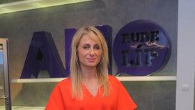 Eurovolby 2019: Pózující lídryně ANO Dita Charanzová v centrále hnutí v Praze na Chodově