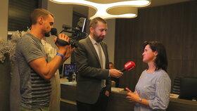 Eurovolby 2019: Radka Maxová při rozhovoru pro Blesk ve štábu ANO