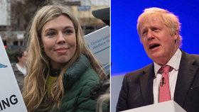 Britský exministr zahraničí Boris Johnson se svou mladou přítelkyní Carrie Symondsovou
