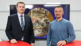 Náměstek ministra zemědělství Jindřich Fialka byl hostem pořadu Epicentrum dne 28.5.2019. Vpravo moderátor Bohuslav Štěpánek.