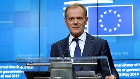 Neformální večeře po eurovolbách: Předseda Evropské rady Donald Tusk (28. 5. 2019)