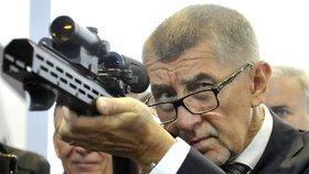Andrej Babiš na brněnském veletrhu IDET