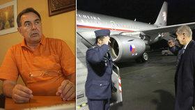 Střelba v Babišově letadle nebyla první: Došlo k ní i na palubě letadla exministra obrany Baudyše.