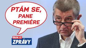 Premiér Andrej Babiš (ANO) v Blesku v pořadu Ptám se, pane premiére