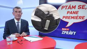 Premiér Andrej Babiš ve studiu Blesku mluvil o střelbě ve vládním letounu