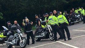Sraz motorkářů z Hells Angels v Londýně
