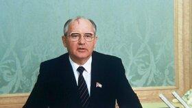 Bývalý sovětský vůdce Michail Gorbačov, na snímku záběr z projevu Gorbačova ze 14. května 1986-