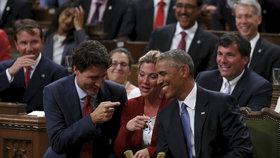 Přátelství Baracka Obamy a Justina Trudeaua.