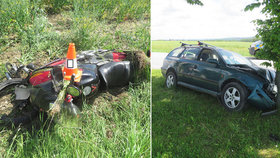 Nehodu u Borovan v jižních Čechách odneslo 5 lidí.
