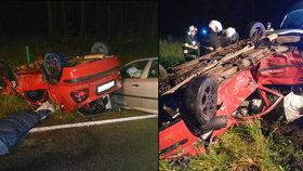 Při nehodě u Dačic zemřel spolujezdec René (†29): Řidička (19) jela prý moc rychle