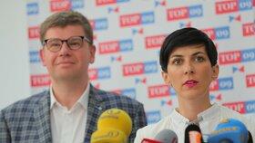Jiří Pospíšil a Markéta Pekarová Adamová ve Sněmovně (4. 6. 2019)