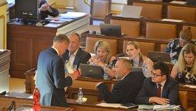 Poslanci v Poslanecké sněmovně (4. 6. 2019)