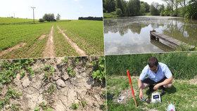 Sucho trápí mnoho expertů. Extrémně nesavá půda navíc nevstřebá nárazové velké srážky.