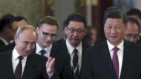 Ruský prezident Putin v Moskvě hostil čínského prezidenta Si Ťin-pchinga.
