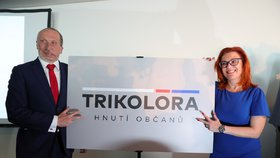 Václav Klaus ml. a poslankyně Zuzana Majerová- Zahradníková představili své hnutí Trikolóra. Hlavní metou jsou prý sněmovní volby v roce 2021 (10. 2018)