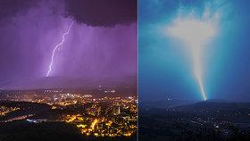 Na Česko se znovu řítí silné bouřky. Hrozí i lijáky a krupobití, sledujte radar