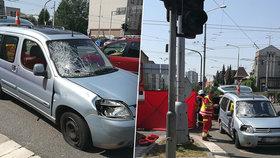 Řidič v Hradci srazil chodkyni na přechodu, na místě zemřela.