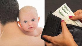V Česku pobírá průměrně rodičovský příspěvek zhruba 5 tisíc otců