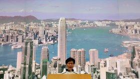 Správkyně Hongkongu Carrie Lamová oznámila odklad schvalování zákona o vydávání osob podezřelých ze spáchání trestného činu (15. 6. 2019)